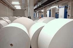 white rolls of nonwoven filter media